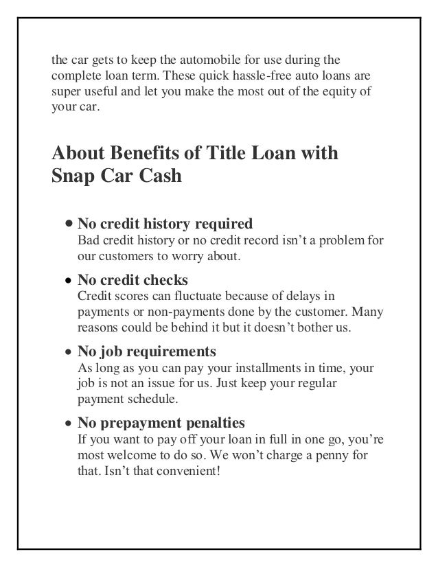 Car Title Loan with Same Day Approval - Check Eligibility Slide 3