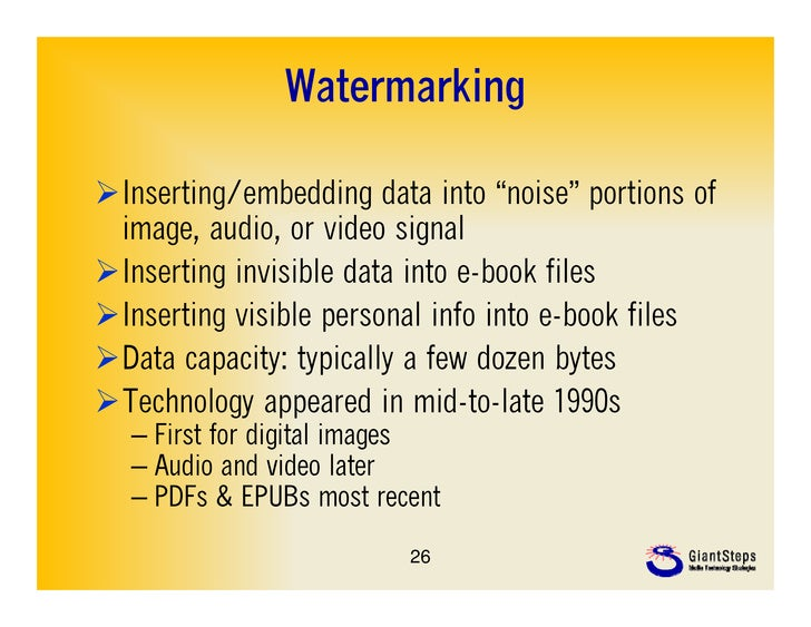 """WatermarkingInserting/embedding data into """"noise"""" portions of                                   noise image, audio, or vi..."""