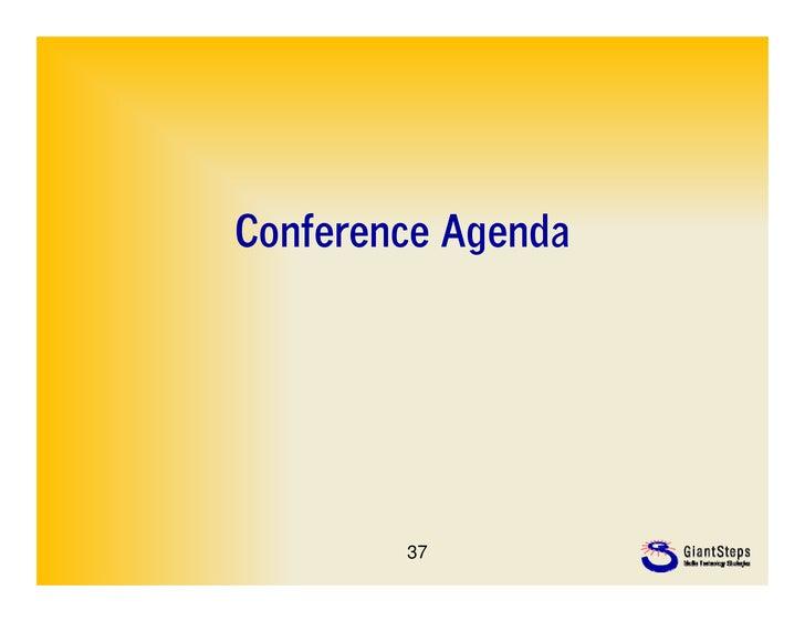 Conference Agenda        37