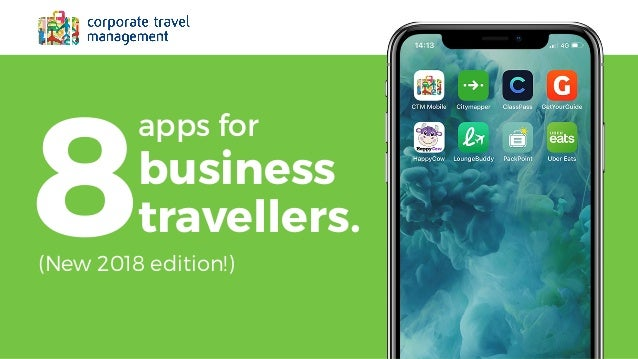 CTM's 8 Apps for Business Travellers 2018