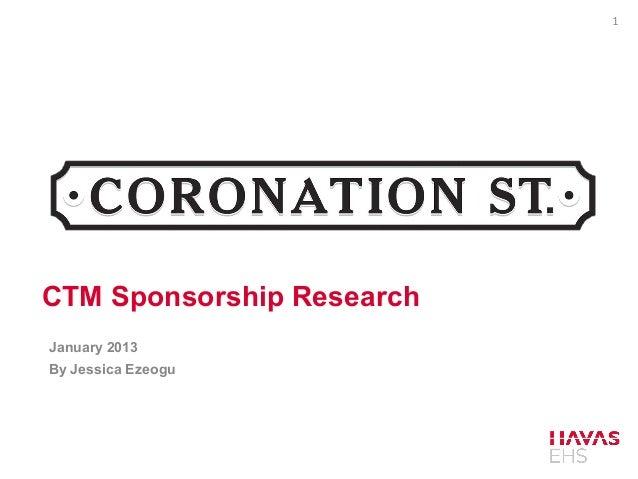 1CTM Sponsorship ResearchJanuary 2013By Jessica Ezeogu
