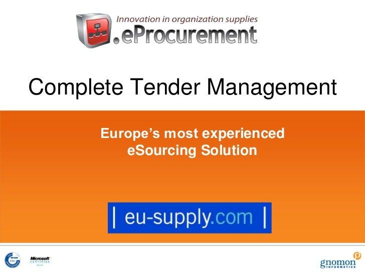 CTM Complete Tender Management