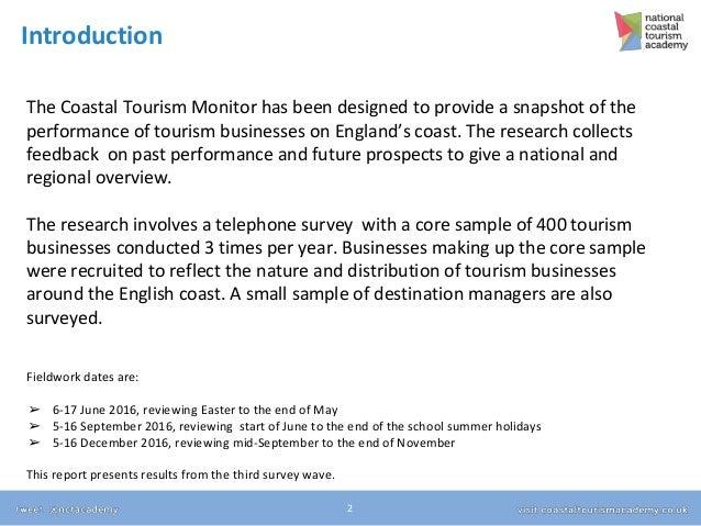 Coastal Tourism Monitor wave 3 results Slide 2
