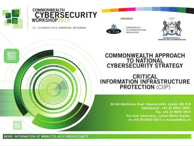 Critical Information Infrastructure Protection Perspective on Cloud Computing Services CIIP Workshop Gaborone, Botswana 23...