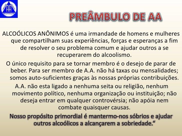 Tratamento de alcoolismo de elementos