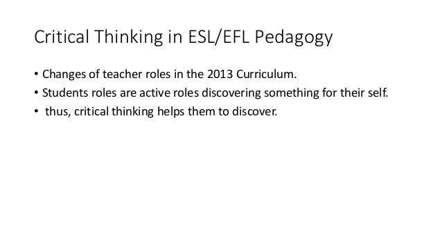 critical thinking in education pdf