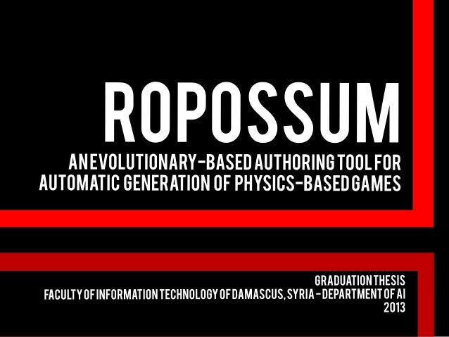 Presentation Timeline  •The problem, the solution and what others are doing  •The game and the research  •Ropossum: the fr...