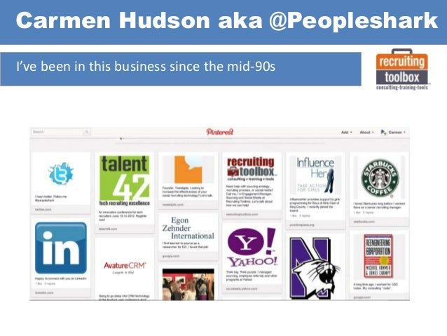 Carmen Hudson aka @Peopleshark I've been in this business since the mid-90s