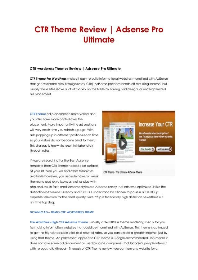 CTR Theme Review | Adsense ProUltimateCTR wordpress Themes Review | Adsense Pro UltimateCTR Theme For WordPress makes it e...