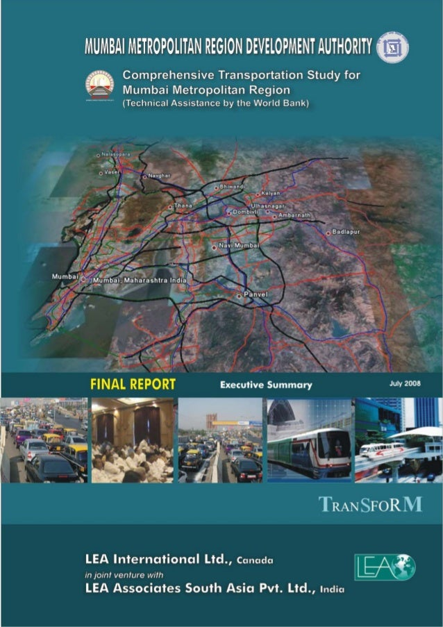 Executive Summary of Comprehensive Transportation Study for MMR TTRANSSFORMM i CONTENTS 1. – VISION, STRATEGIC OBJECTIVES ...
