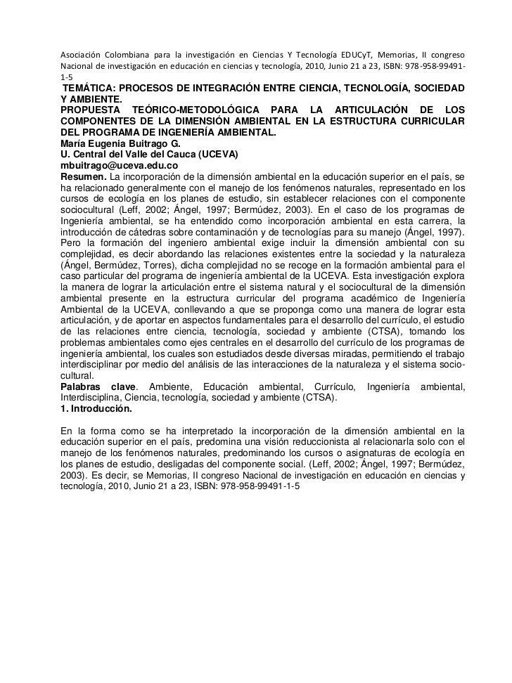Asociación Colombiana para la investigación en Ciencias Y Tecnología EDUCyT, Memorias, II congreso Nacional de investigaci...