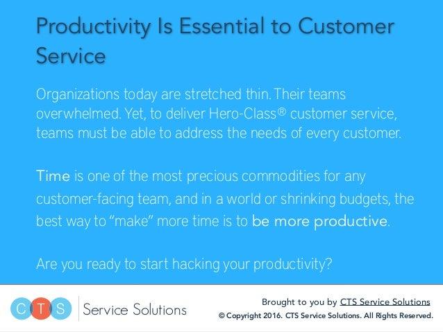 10 Best Productivity Hacks for Customer Service Slide 2