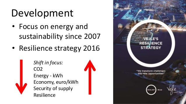 Development • Focus on energy and sustainability since 2007 • Resilience strategy 2016 Shift in focus: CO2 Energy - kWh Ec...