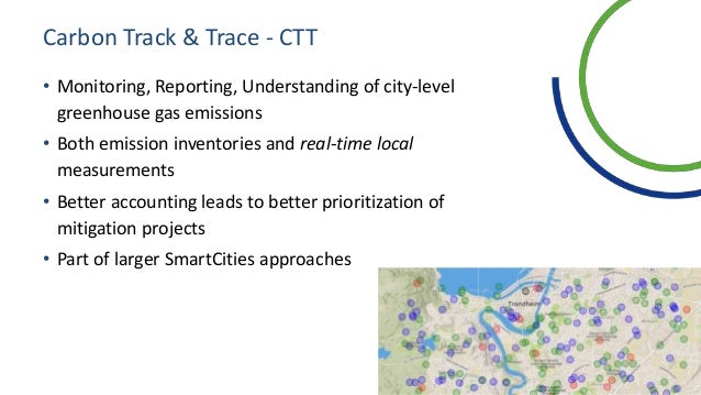Carbon Track & Trace - CTT • Monitoring, Reporting, Understanding of city-level greenhouse gas emissions • Both emission i...