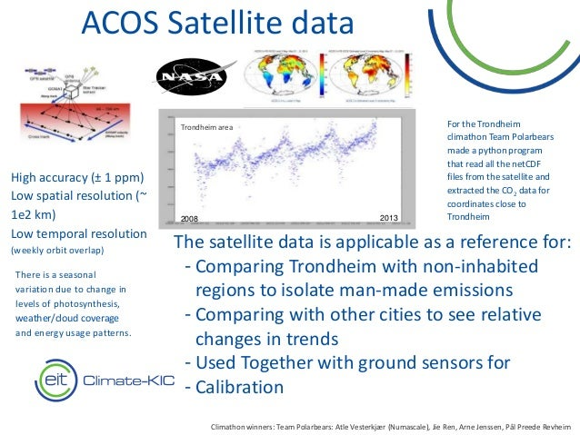 15 The satellite data is applicable as a reference for: - Comparing Trondheim with non-inhabited regions to isolate man-ma...
