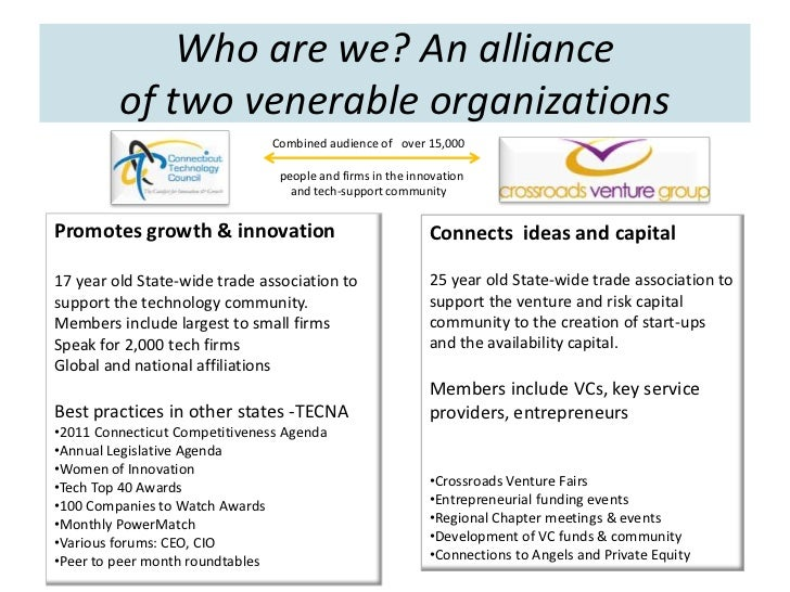 Who are we? An alliance         of two venerable organizations                               Combined audience of over 15,...