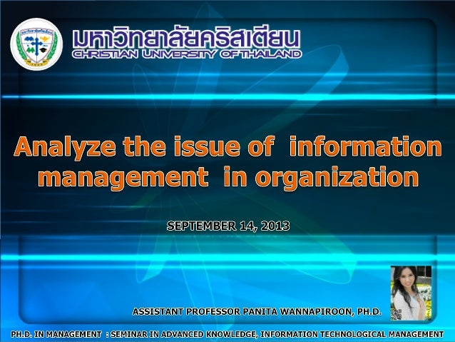 Contents Information Management (IM) Information Technology Management Information System Information and Communications T...