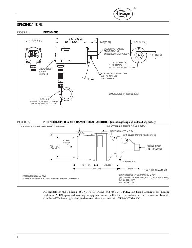 Integrated Flame Scanner For Commercial and Industrial Combustion Ope – Industrial Combustion Wiring Diagrams