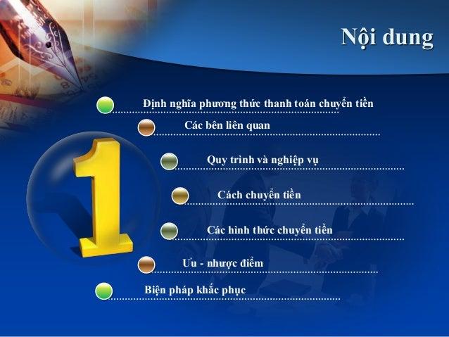Phương thức thanh toán chuyển tiền Slide 3