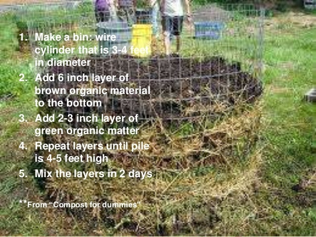 how to make a compost pile for dummies