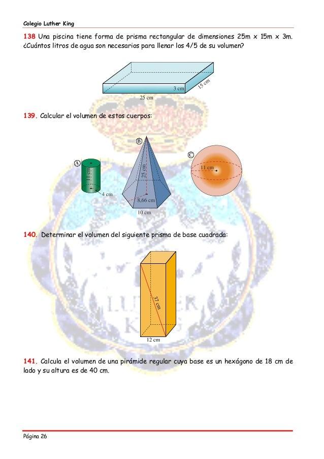 Cuadernillo 2015 matematicas 2 eso for Cuantos litros de agua caben en una piscina