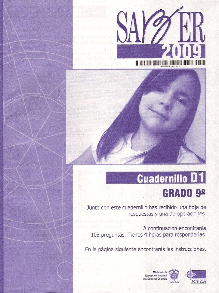 Cuadernillo D1 G9