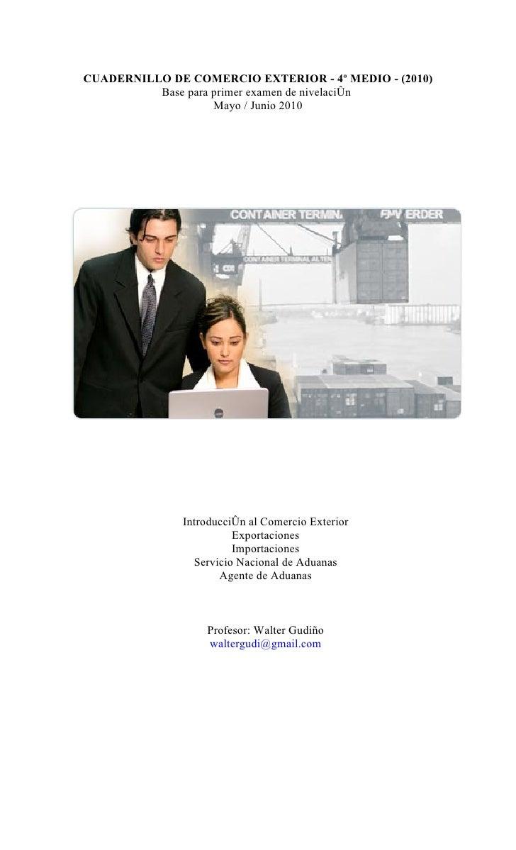 Cuadernillo de comercio exterior 2009 for Comercio exterior