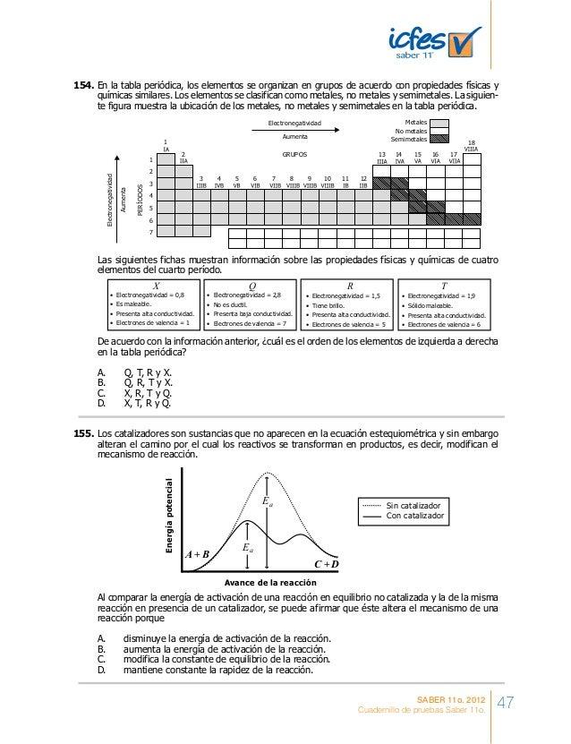 Cuadernillo de entrenamiento ICFES saber 11 preguntas y respuestas