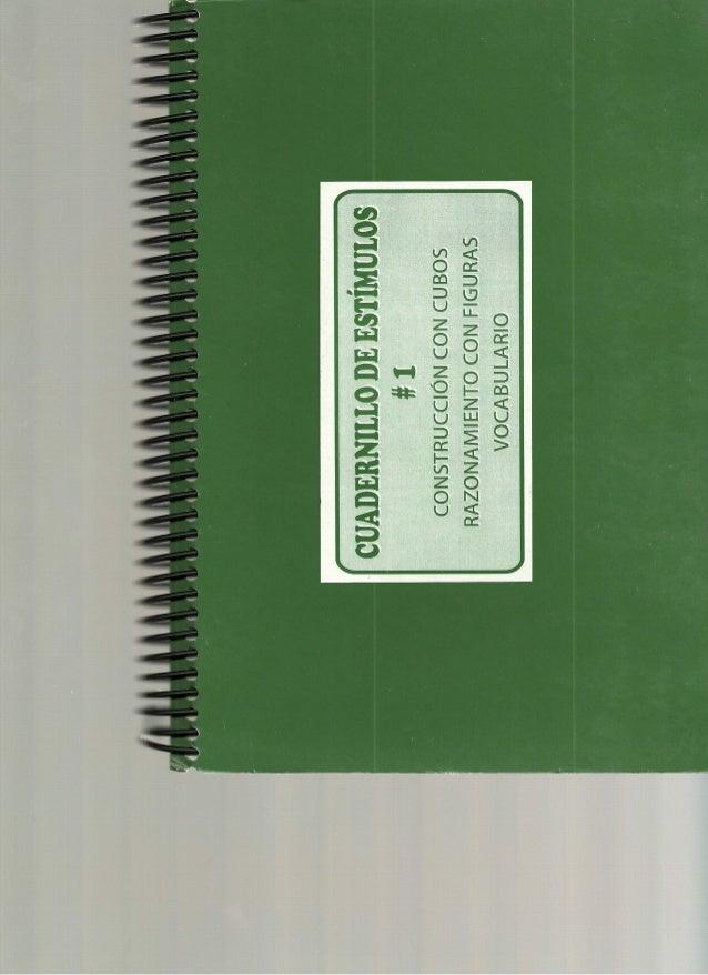 Cuadernillo de estimulos Wisc-IV Nº 01