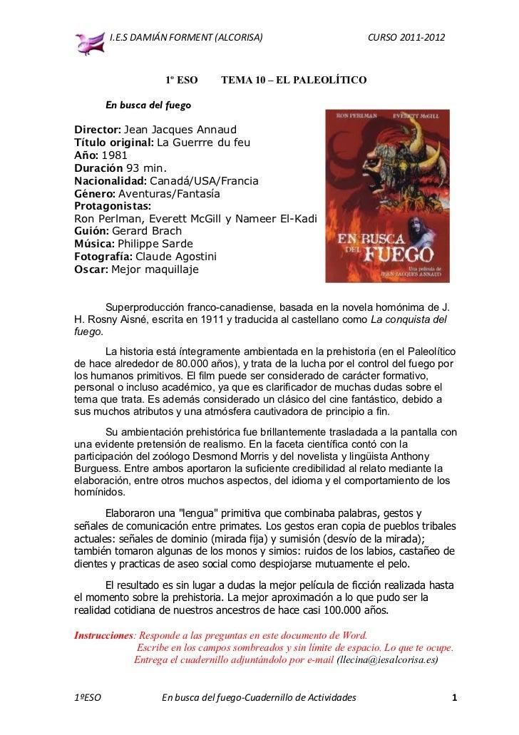 I.E.S DAMIÁN FORMENT (ALCORISA)                             CURSO 2011-2012                     1º ESO       TEMA 10 – EL ...