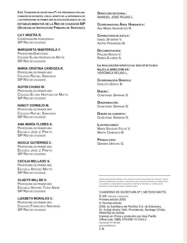 ESTE CUADERNO DE ESCRITURA Nº1 FUE PREPARADO POR UNA COMISIÓN DE DOCENTES, CON EL APORTE DE LA EXPERIENCIA DE LOS PROFESOR...