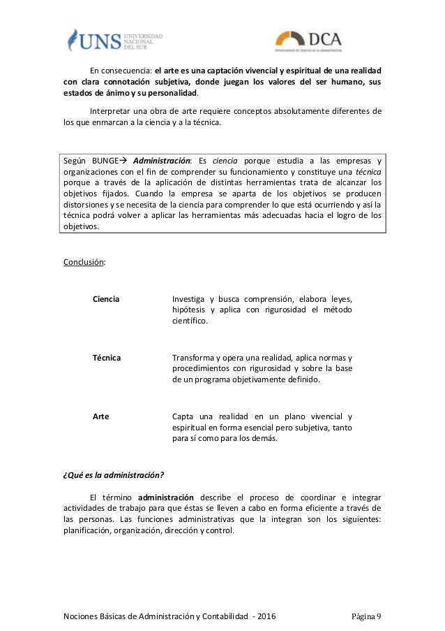 Cuadernillo nociones basicas administracion y contabilidad for Nociones basicas de oficina concepto