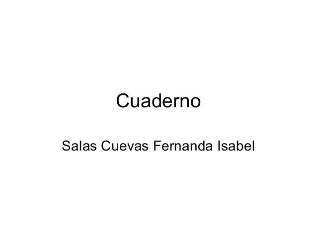 Cuaderno Salas Cuevas Fernanda Isabel
