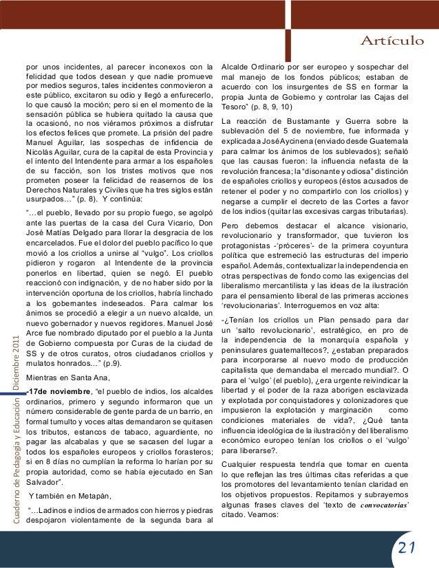CuadernodePedagogíayEducaciónDiciembre201121por unos incidentes, al parecer inconexos con lafelicidad que todos desean y q...