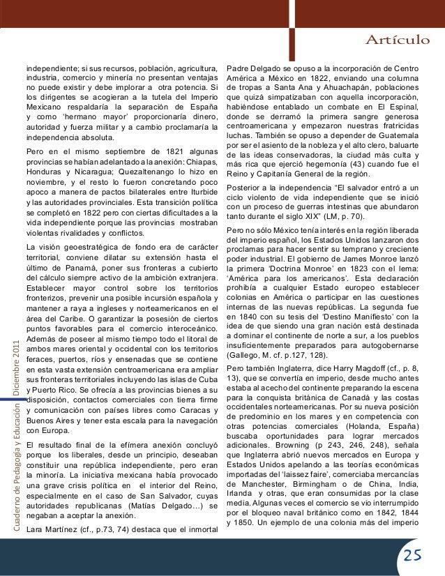 CuadernodePedagogíayEducaciónDiciembre201125independiente; si sus recursos, población, agricultura,industria, comercio y m...