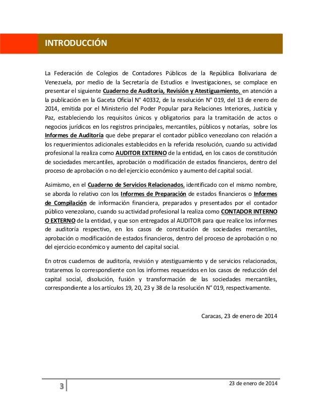 Cuaderno de auditoria revisi n y atestiguamiento 23 01 2014 Ministerio de relaciones interiores y justicia