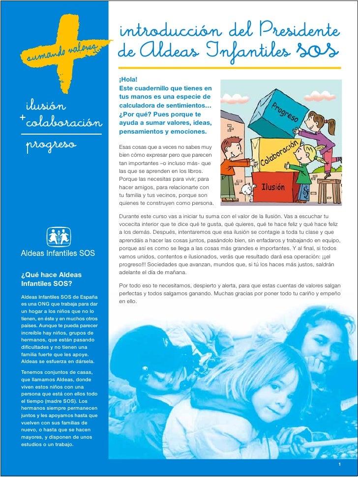 introducción del Presidente                                    de Aldeas Infantiles                                       ...