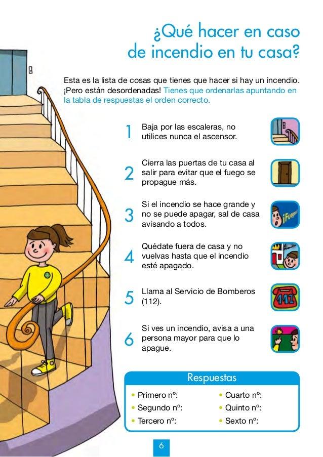Mi cuaderno de prevenci n de incendios y otros riesgos 7 9 - Seguridad en tu casa ...