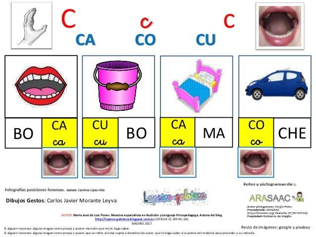 C c c CA caBO CU cu BO CA ca MA CA CO CU Resto de im�genes: google y pixabay AUTOR: Mar�a Jos� de Luis Flores. Maestra esp...