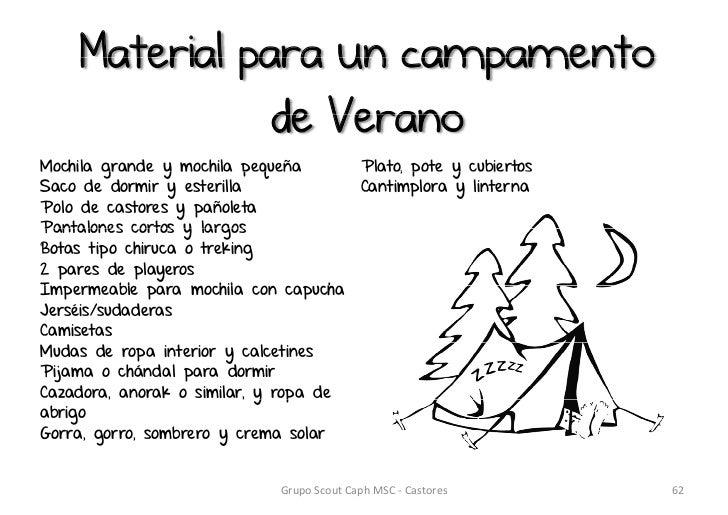 b19111a5d Material para un campamento de VeranoMochila grande y mochila ...