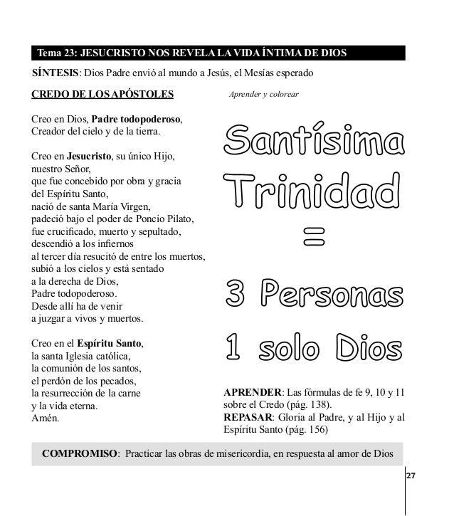 33 Tema 24: EL ESPÍRITU SANTO DA VIDAA LA IGLESIA SÍNTESIS: Creo en la Iglesia que es una, santa, católica y apostólica Lo...