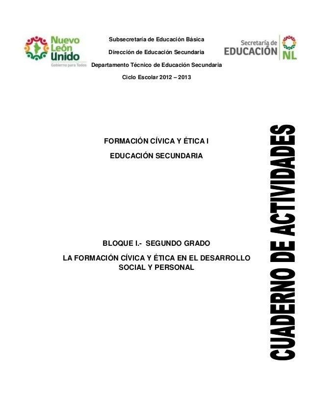 Subsecretaría de Educación Básica Dirección de Educación Secundaria Departamento Técnico de Educación Secundaria Ciclo Esc...