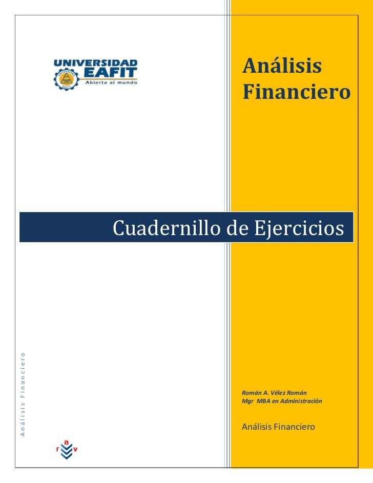 Análisis                                    Financiero                      Cuadernillo de EjerciciosAnálisis Financiero  ...