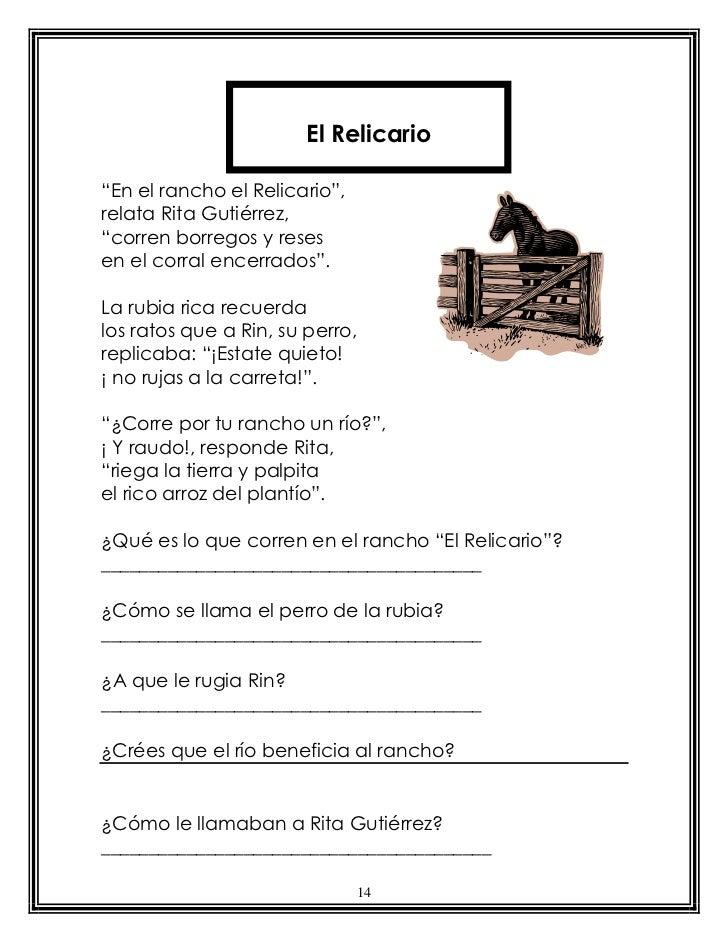 """El Relicario""""En el rancho el Relicario"""",relata Rita Gutiérrez,""""corren borregos y resesen el corral encerrados"""".La rubia ri..."""