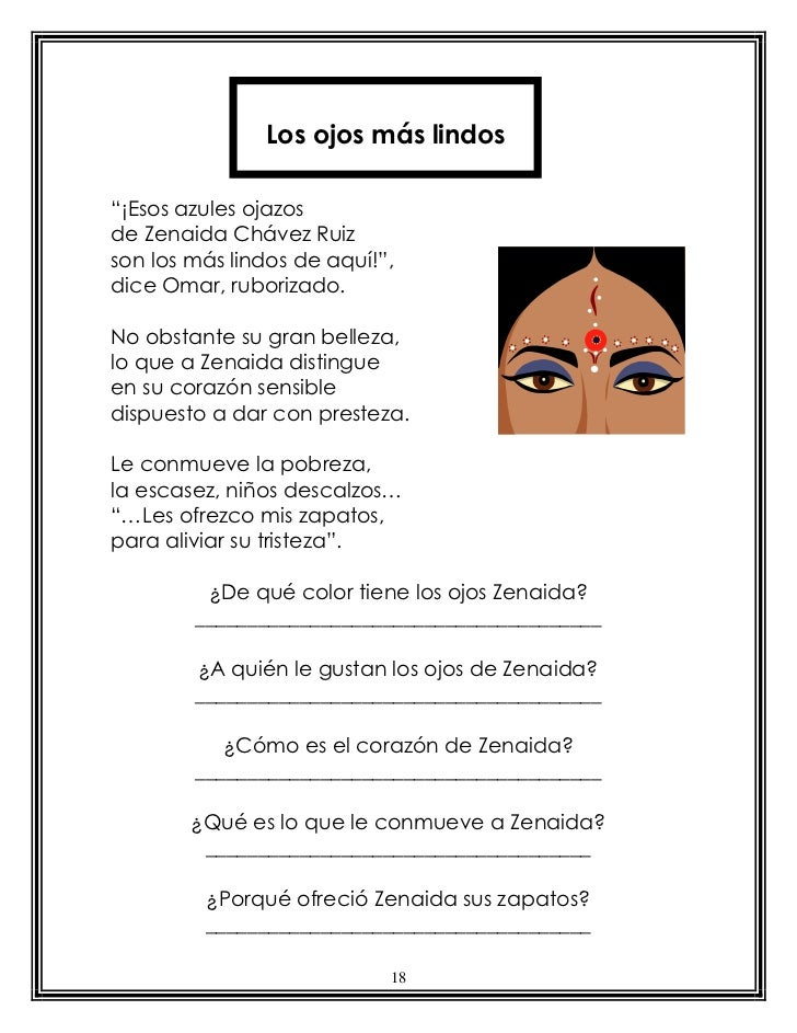 """Los ojos más lindos""""¡Esos azules ojazosde Zenaida Chávez Ruizson los más lindos de aquí!"""",dice Omar, ruborizado.No obstant..."""