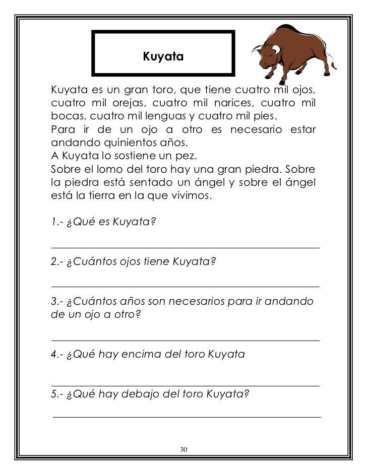 KuyataKuyata es un gran toro, que tiene cuatro mil ojos,cuatro mil orejas, cuatro mil narices, cuatro milbocas, cuatro mil...