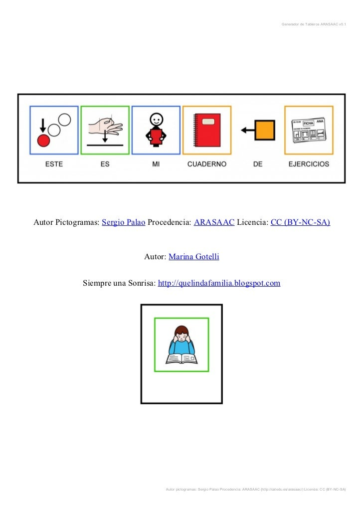 Generador de Tableros ARASAAC v0.1Autor Pictogramas: Sergio Palao Procedencia: ARASAAC Licencia: CC (BY-NC-SA)            ...