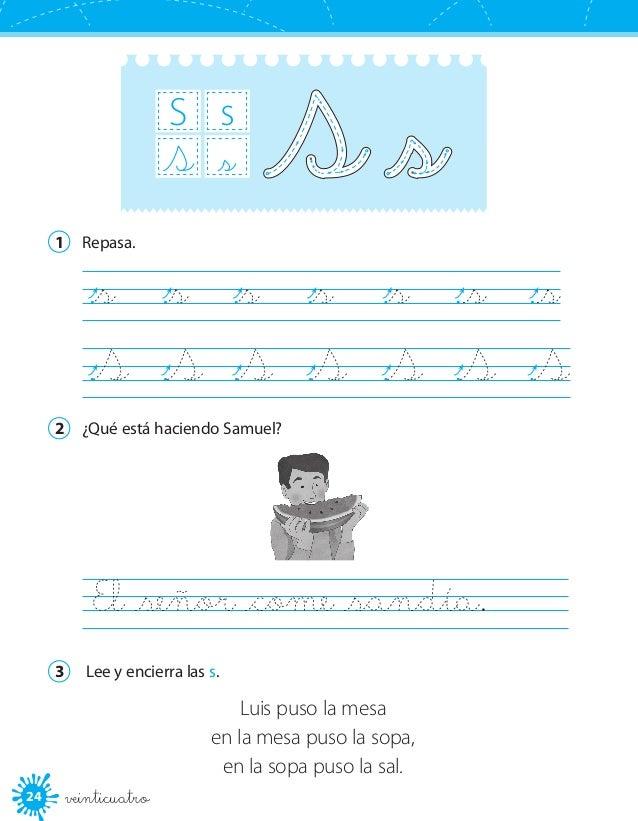 Cuaderno de escritura 1°