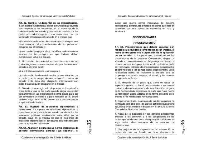 Art. 62. Cambio fundamental en las circunstancias.         surge una nueva norma imperativa de derecho1. Un cambio fundame...