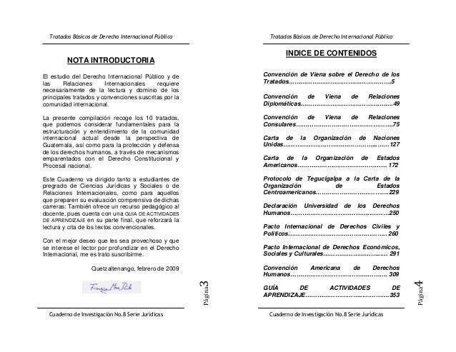 INDICE DE CONTENIDOS         NOTA INTRODUCTORIAEl estudio del Derecho Internacional Público y de      Convención de Viena ...